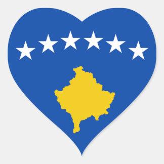 Flag of Kosovo Heart Sticker