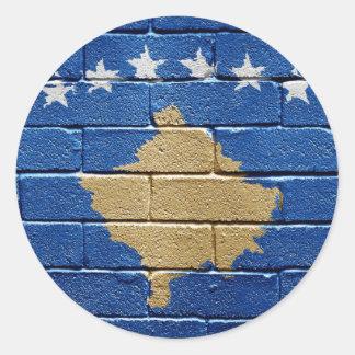 Flag of Kosovo Round Stickers