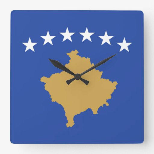 Flag of Kosovo Wall Clock