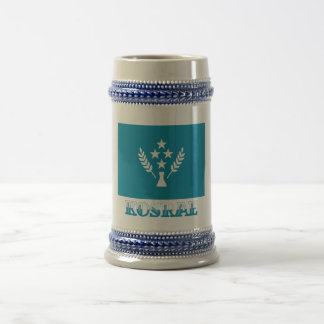 Flag of Kosrae, with name 18 Oz Beer Stein