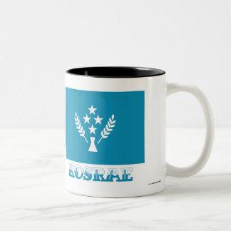 Flag of Kosrae, with name Two-Tone Coffee Mug