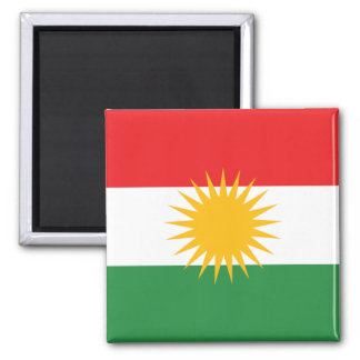 Flag of Kurdistan 2 Inch Square Magnet