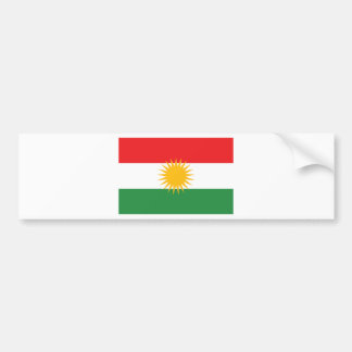 Flag of Kurdistan (Alay Kurdistan or Alaya Rengîn) Bumper Sticker