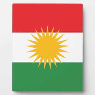 Flag of Kurdistan (Alay Kurdistan or Alaya Rengîn) Plaque
