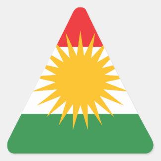 Flag of Kurdistan (Alay Kurdistan or Alaya Rengîn) Triangle Sticker