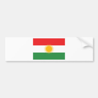 Flag of Kurdistan; Kurd; Kurdish Bumper Sticker