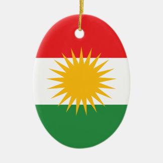 Flag of Kurdistan; Kurd; Kurdish Ceramic Ornament