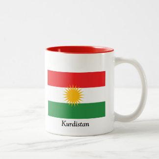 Flag of Kurdistan Two-Tone Coffee Mug