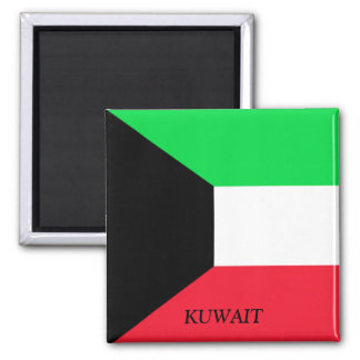 Flag of Kuwait 2 Inch Square Magnet