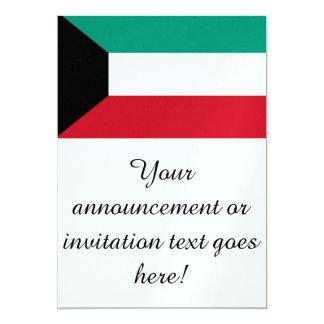 Flag of Kuwait 5x7 Paper Invitation Card