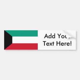 Flag of Kuwait Car Bumper Sticker