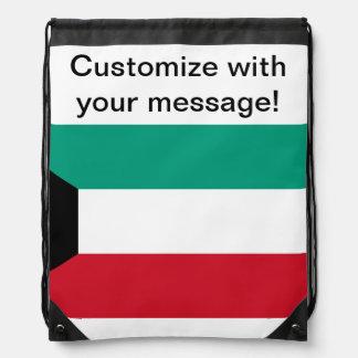 Flag of Kuwait Drawstring Backpack