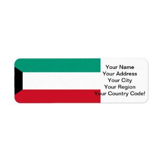 Flag of Kuwait Return Address Label