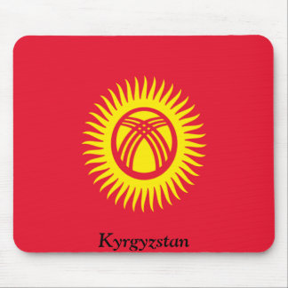 Flag of Kyrgyzstan Mouse Pad