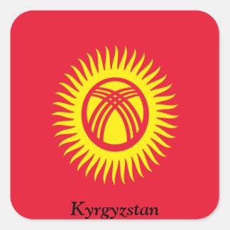 Flag of Kyrgyzstan Square Sticker