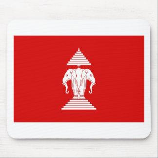 Flag of Laos (1952-1975) - ທຸງຊາດລາວ Mouse Pad