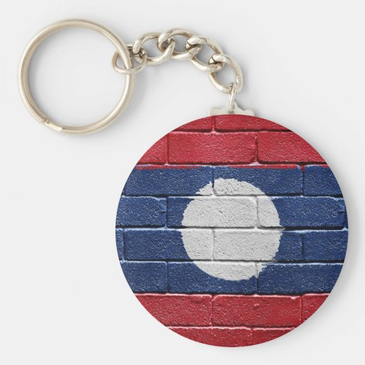 Flag of Laos Basic Round Button Keychain