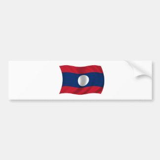 Flag of Laos Car Bumper Sticker