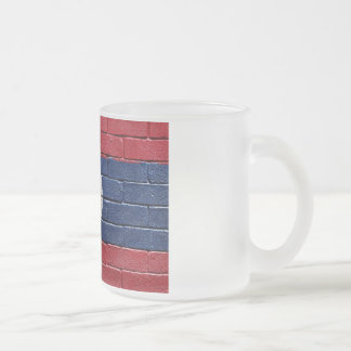 Flag of Laos Frosted Glass Coffee Mug