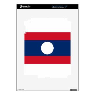 Flag of Laos - Laotian flag - ທຸງຊາດລາວ Decal For iPad 2