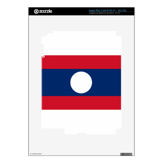 Flag of Laos - Laotian flag - ທຸງຊາດລາວ Decal For iPad 3