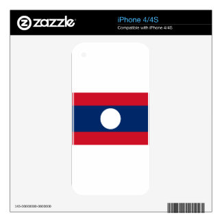 Flag of Laos - Laotian flag - ທຸງຊາດລາວ Skin For iPhone 4