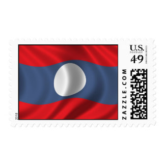 Flag of Laos Postage