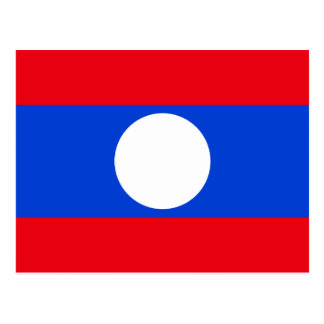 Flag of Laos Postcard