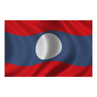 Flag of Laos Poster