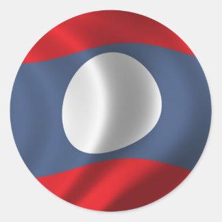 Flag of Laos Round Sticker