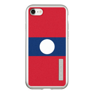Flag of Laos Silver iPhone Case