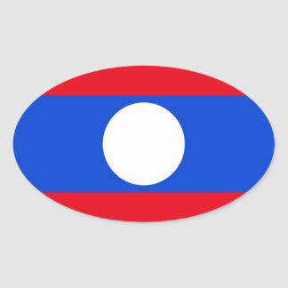 Flag of Laos Oval Stickers