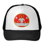 FLAG OF LAOS THREE HEAD ELEPHANT TRUCKER HAT
