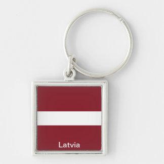 Flag of Latvia Key Chain