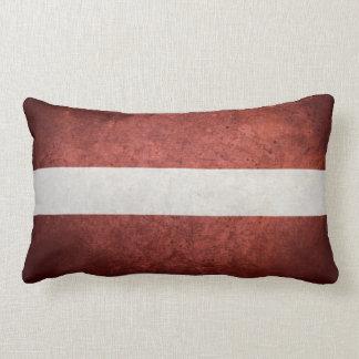 Flag of Latvia Throw Pillow