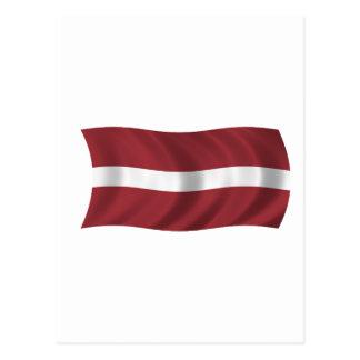 Flag of Latvia Postcards