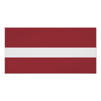 Flag of Latvia Poster