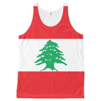 Flag of Lebanon All-Over-Print Tank Top