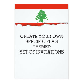 Flag of Lebanon Card