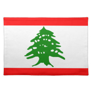 Flag of Lebanon Cloth Placemat