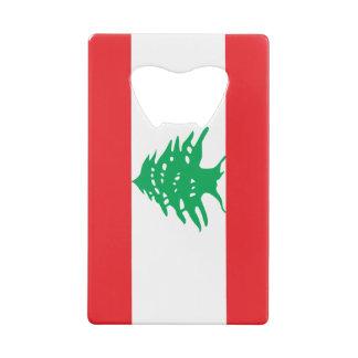 Flag of Lebanon Credit Card Bottle Opener