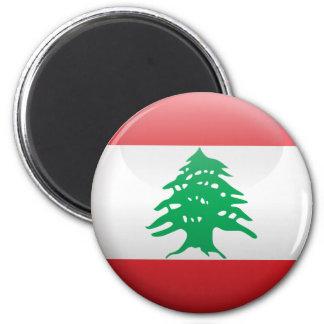 Flag of Lebanon 2 Inch Round Magnet