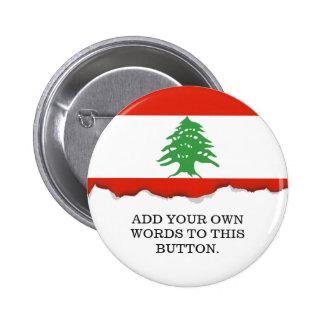 Flag of Lebanon Pinback Button