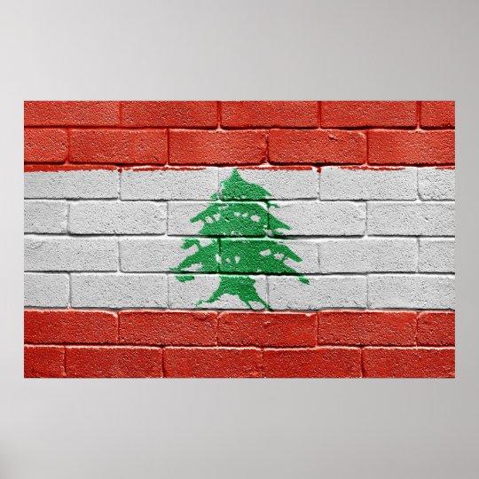 Flag of Lebanon Poster