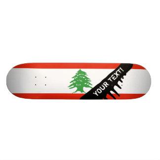 Flag of Lebanon Skateboard