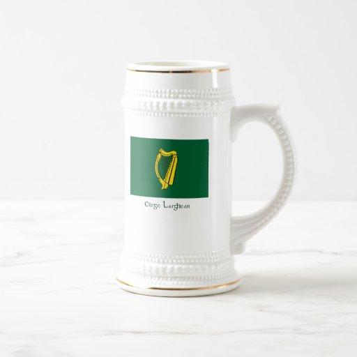 Flag of Leinster 18 Oz Beer Stein