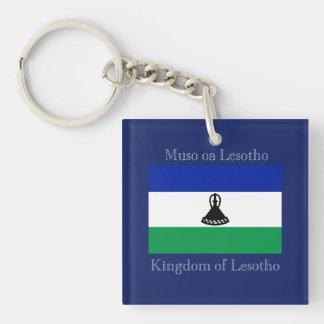 Flag of Lesotho Double-Sided Square Acrylic Keychain