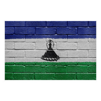 Flag of Lesotho Poster
