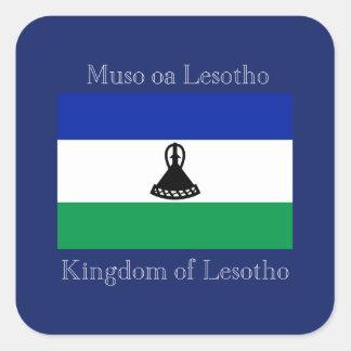 Flag of Lesotho Square Sticker
