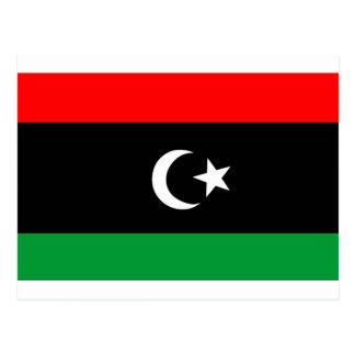 Flag of Libya Postcard